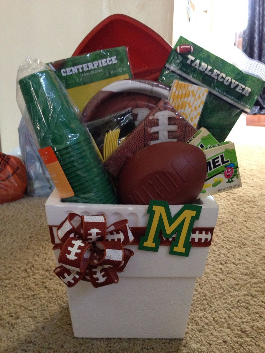 Mayfield Trojans football gift basket | Made by me | Pinterest ...