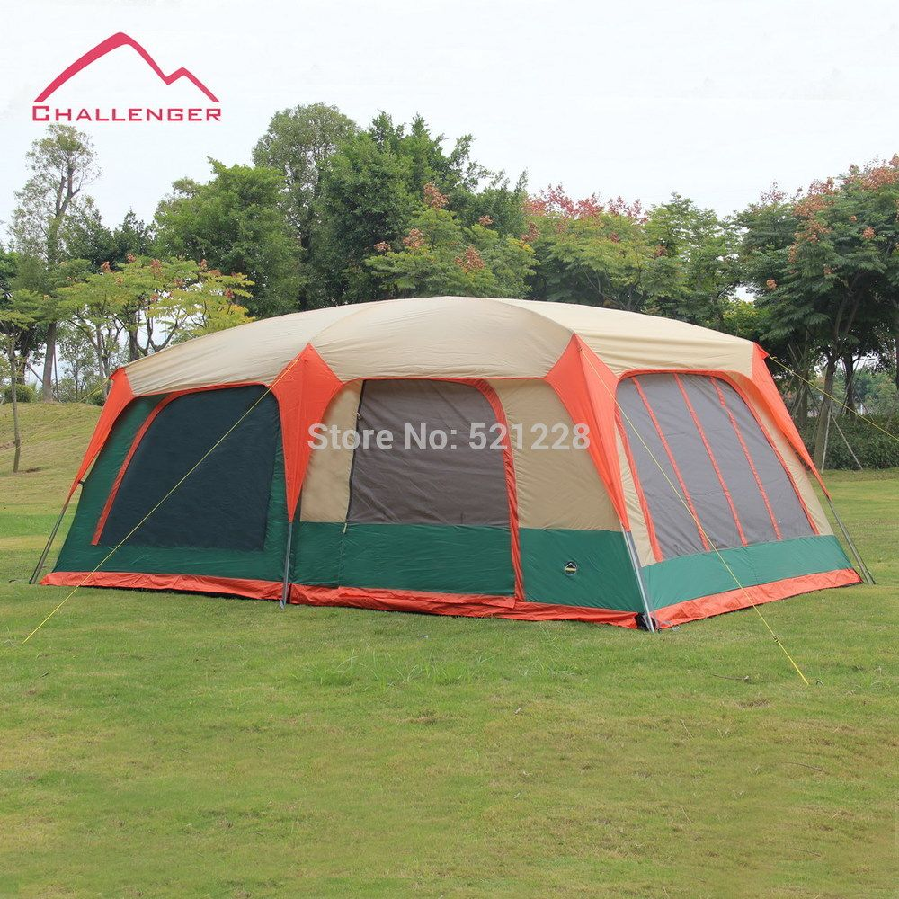 Cheap tent double Buy Quality outdoor tent c&ing directly from China c&ing tent Suppliers 6 people 8 people 10 people 12 people outdoor tent c&ing ... & Like and Share if you want this Hot sale promotion Challenger 8-12 ...