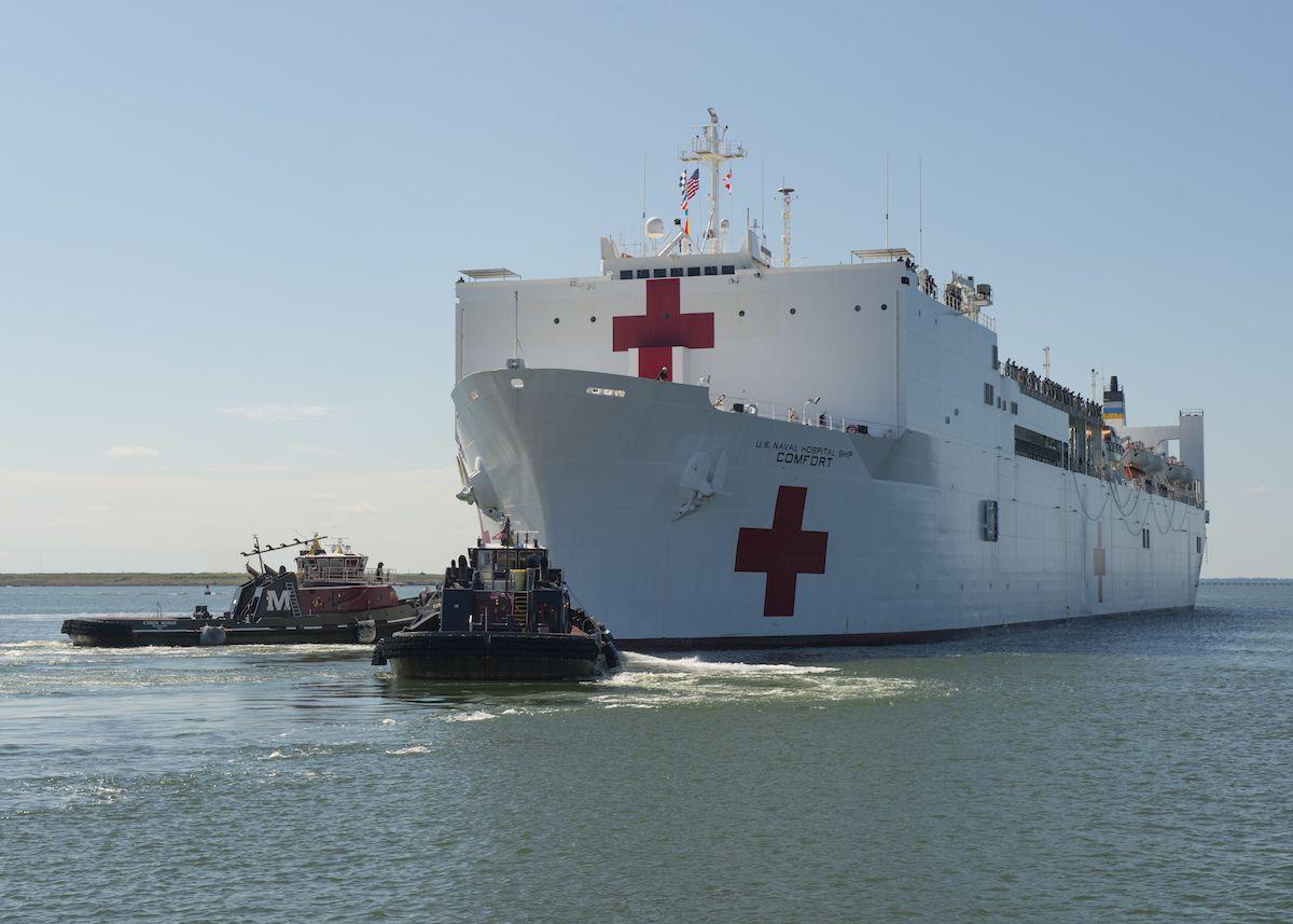 Hospital Ship Usns Comfort Departs For Puerto Rico Naval Station Norfolk Navy Ships Puerto Rico