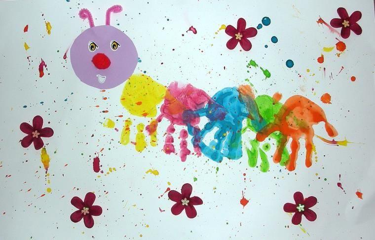 Ideen Manuelle Aktivitat 2 Jahre Um Spass Mit Ihren Kindern Zu Haben Mobel Design Dekoration Kinder Basteln 2 Jahre Handabdruck Kunst Basteln Fruhling Kinder