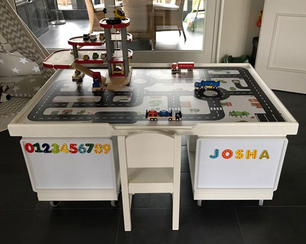 multifunktionstisch selber bauen f r kinder play table storage and ikea hack