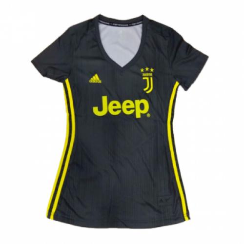 b4519becbd8 18-19 Juventus Third Away Black Women s Jersey Shirt