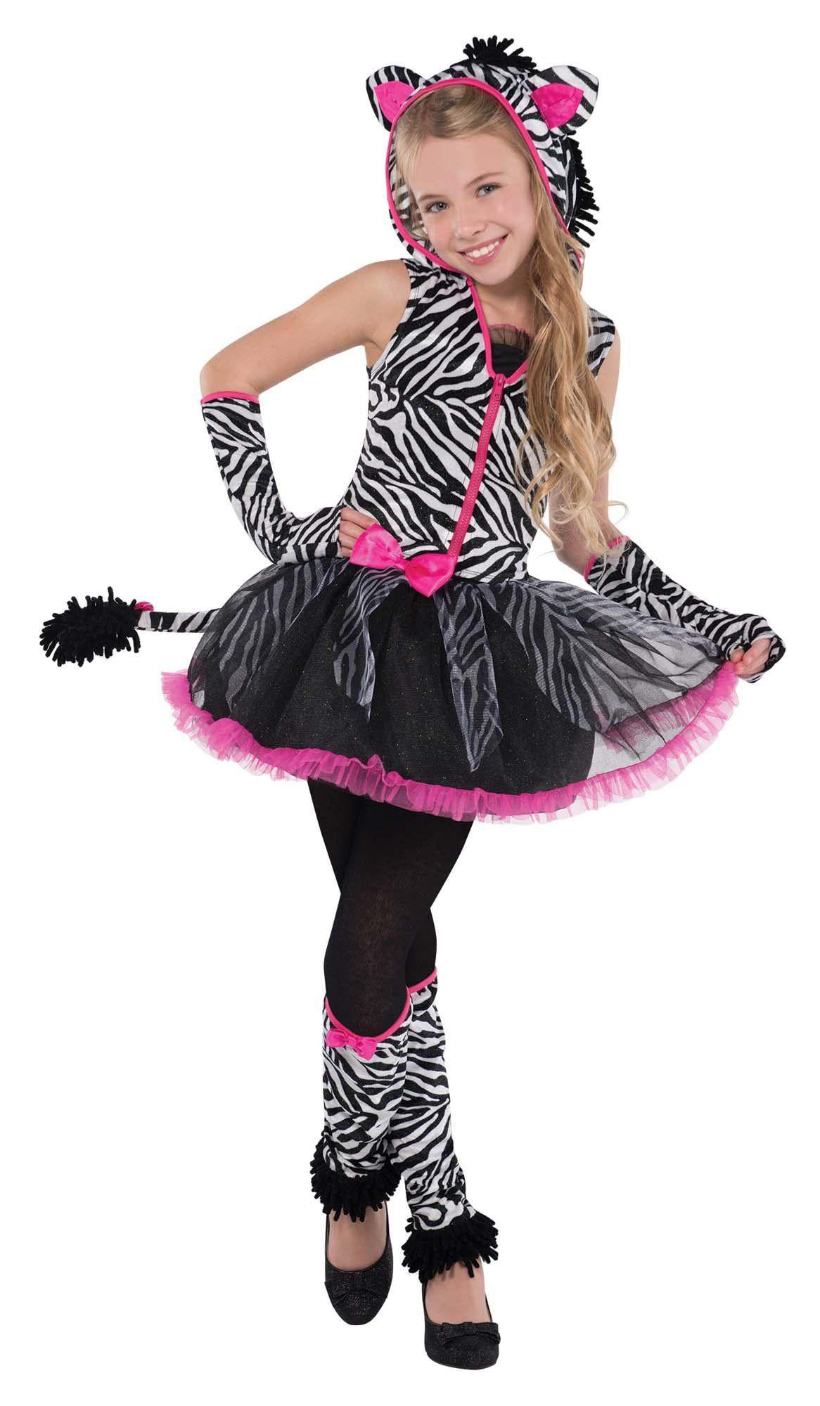 Sassy Stripes Zebra Costume for Halloween Party School