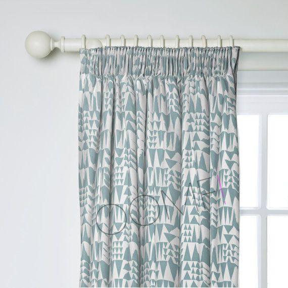 Scandinavian Curtains- Geometric Curtains- Custom Curtains- Lined Curtains