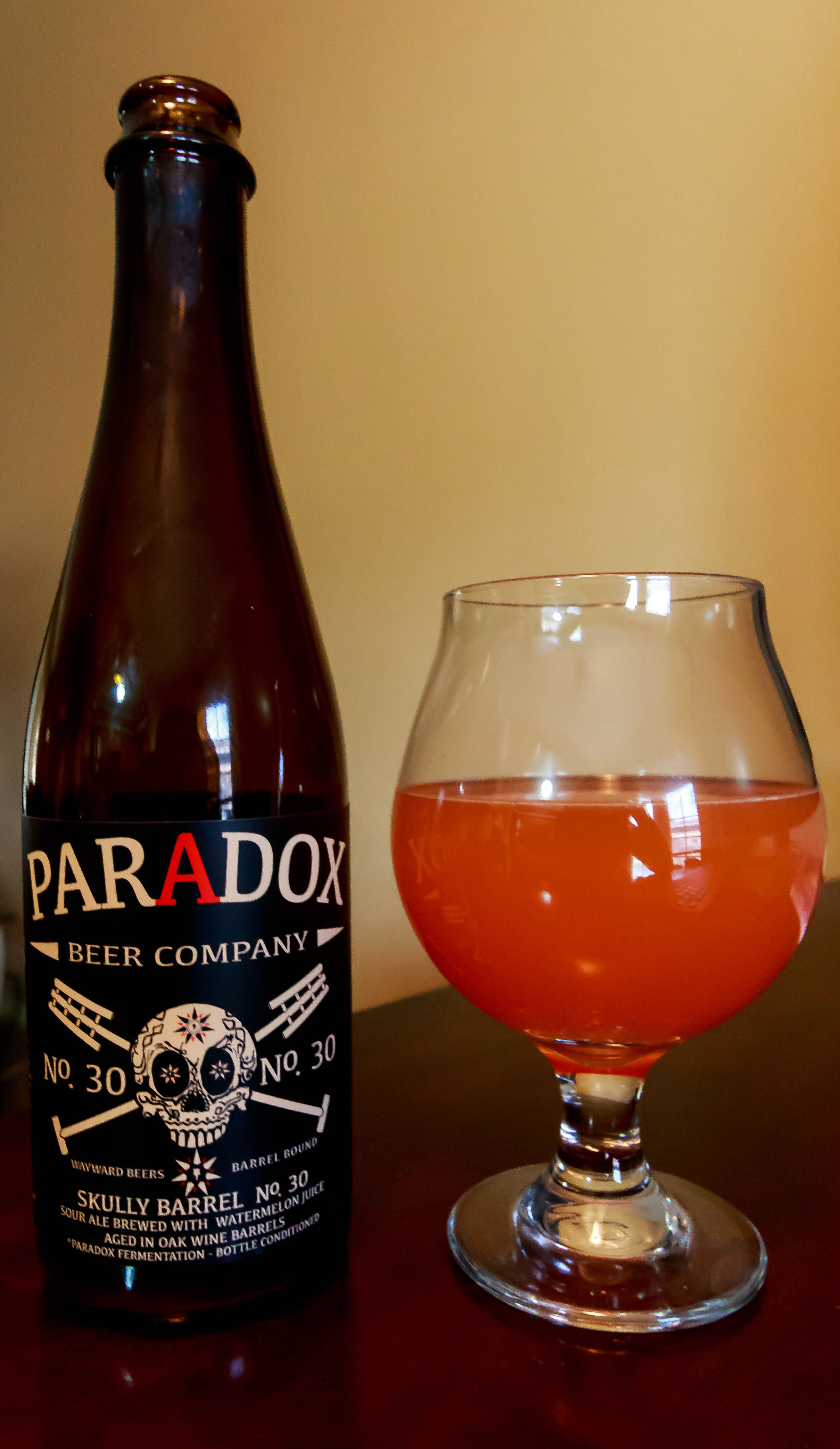 30 Paradox Beer Company Ale 9 ABV Well UhParadox Went And Put Watermelon Juice In This Sour Concoction Brilliant