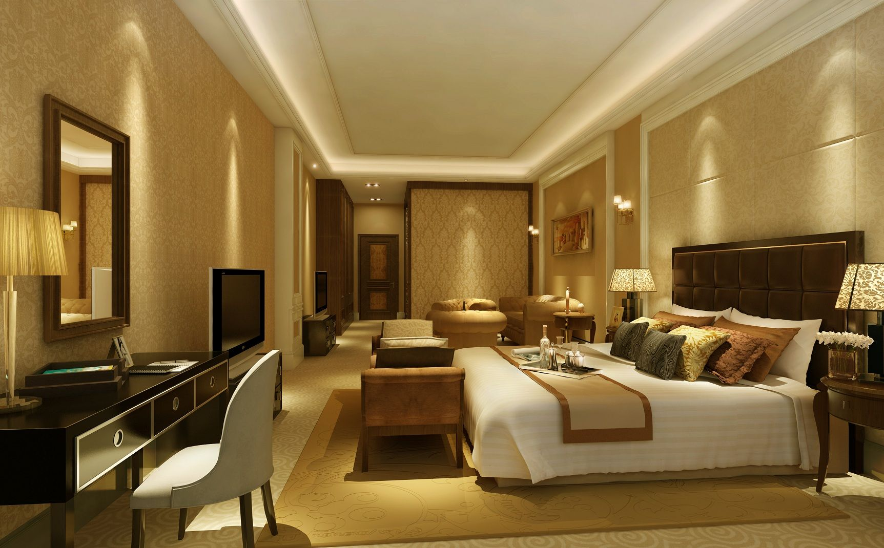 Traditional master bedroom design ideas with bedroom