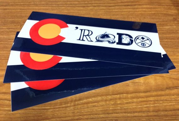 Colorado flag rado sticker denver broncos denver by milehighrefry
