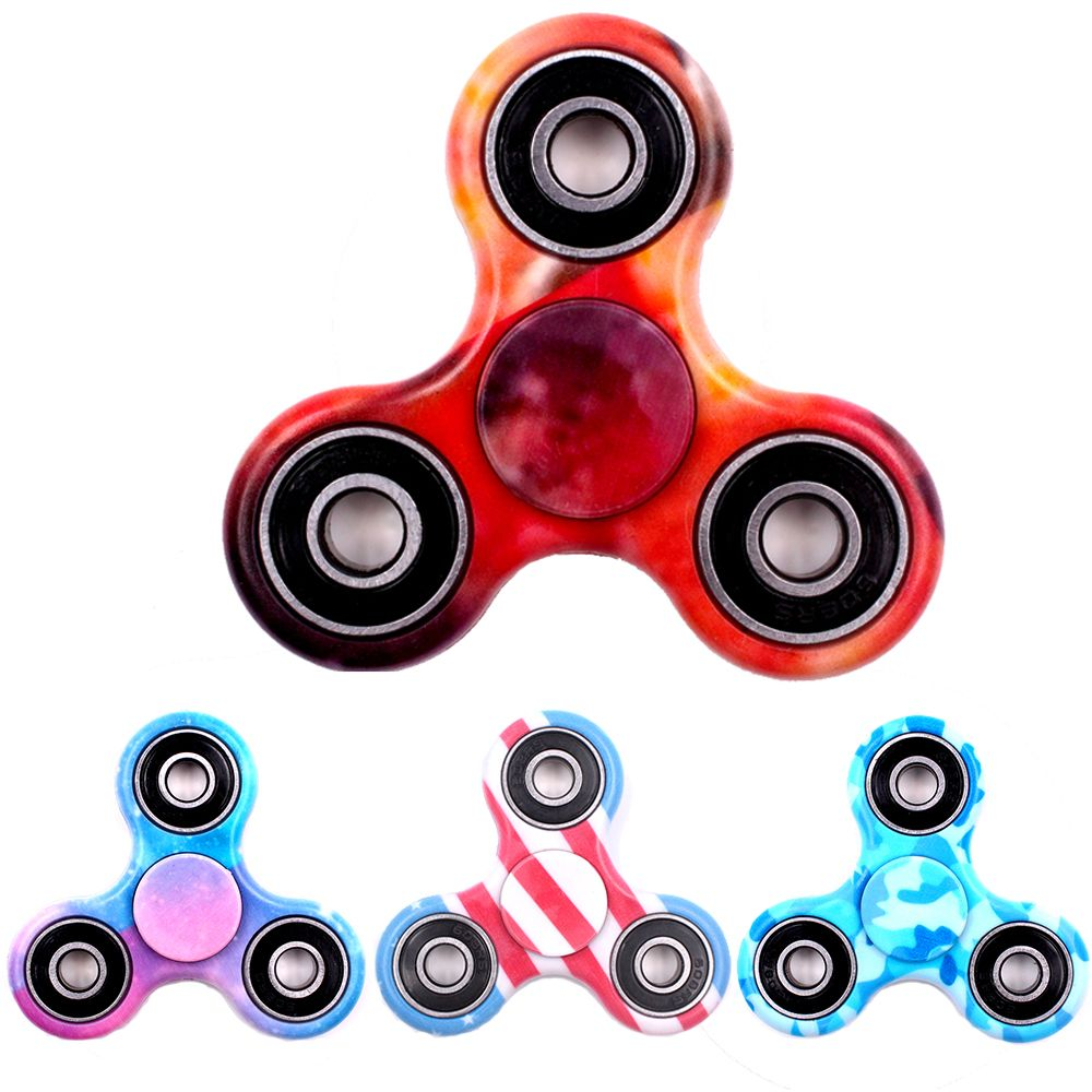 Hot Tri Spinner Mainan Abs Roda Edc Anti Stres Tangan Fidget Hand 3 Circle Arms Gelisah Untuk Autisme
