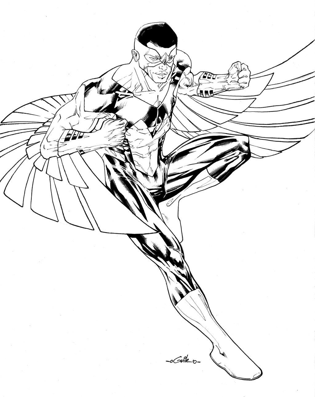 Sam Wilson The Falcon By Spiderguile Avengers Coloring Avengers Coloring Pages Avengers