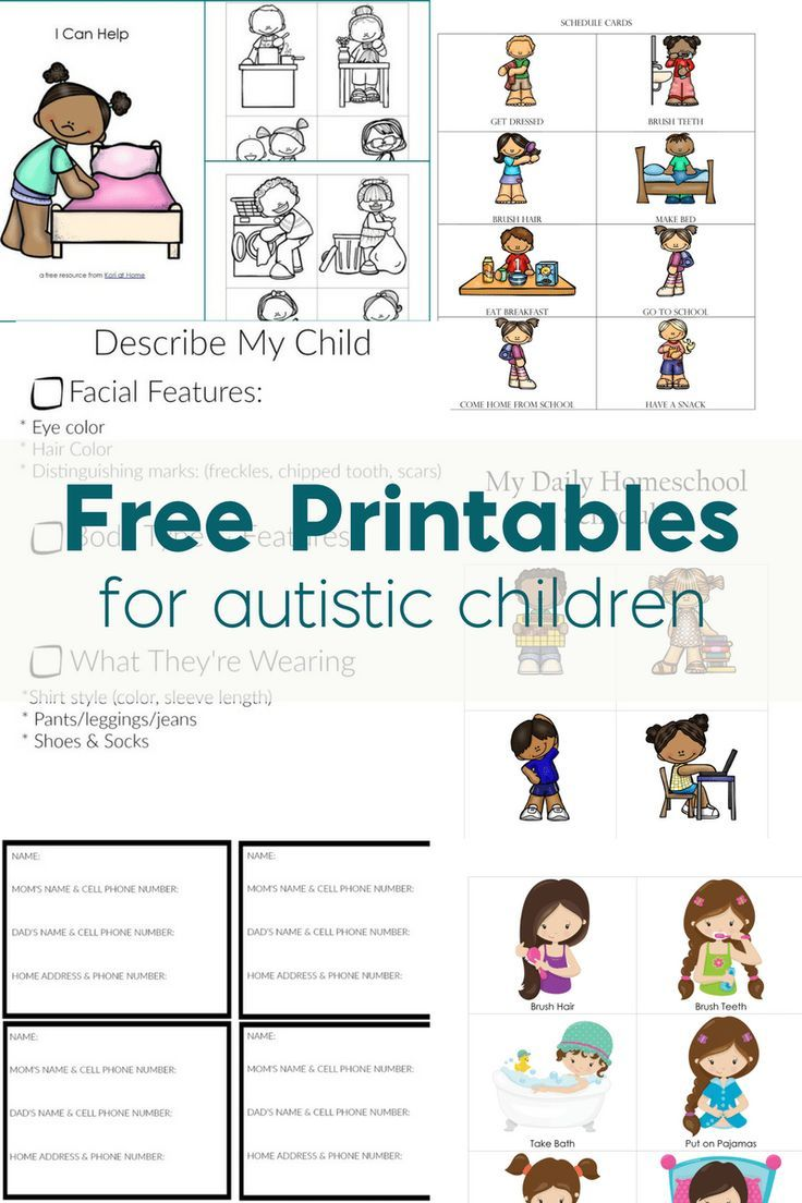 Persnickety image within free printable resources for autism