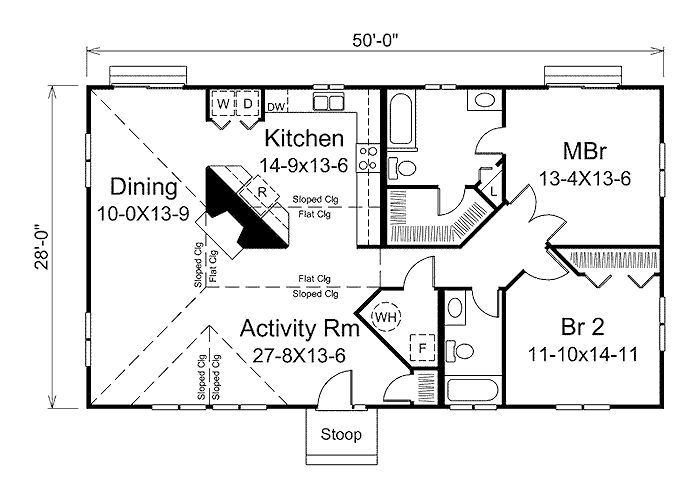 Floor plans for 1400 sq ft ranch homes 1400 square feet for House plans under 1400 sq ft