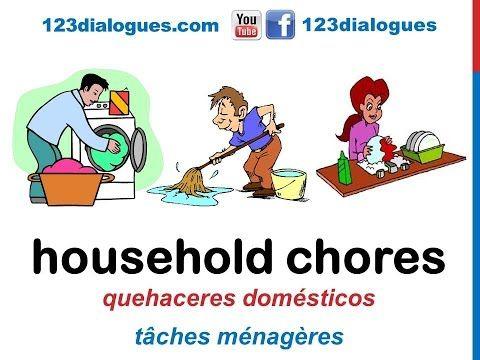 Curso De Ingles 50 Quehaceres Del Hogar En Ingles Tareas De La