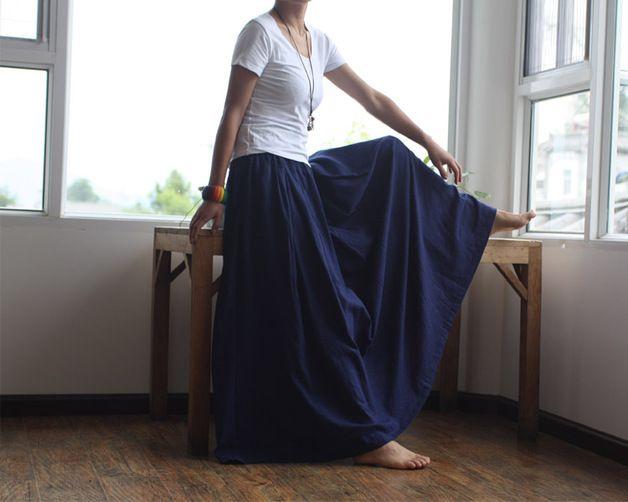 30ca88e3e71b8 Jupe longue bleu marine jupe jeans courte   Akiva