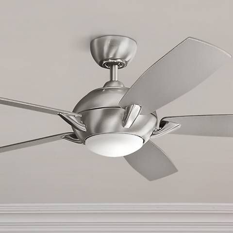 54 Kichler Geno Brushed Stainless Steel Led Ceiling Fan 16p15