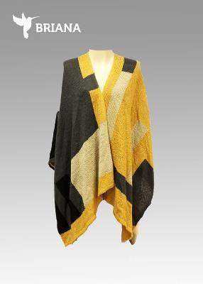 luce #fashion con esta #capa en color #amarillo y #gris