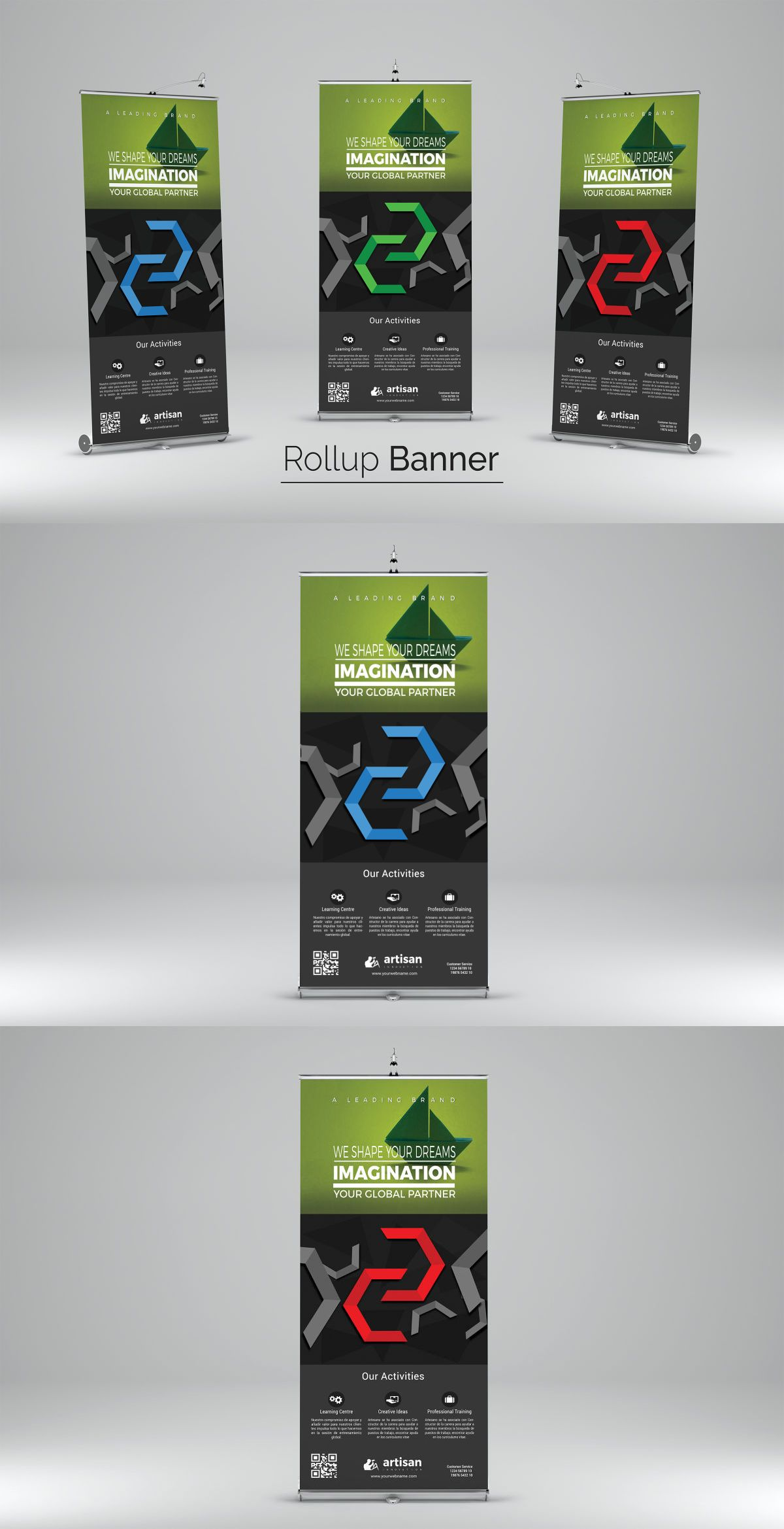 Rollup Banner Template AI, EPS, PSD | Roll-Up Banner Design ...
