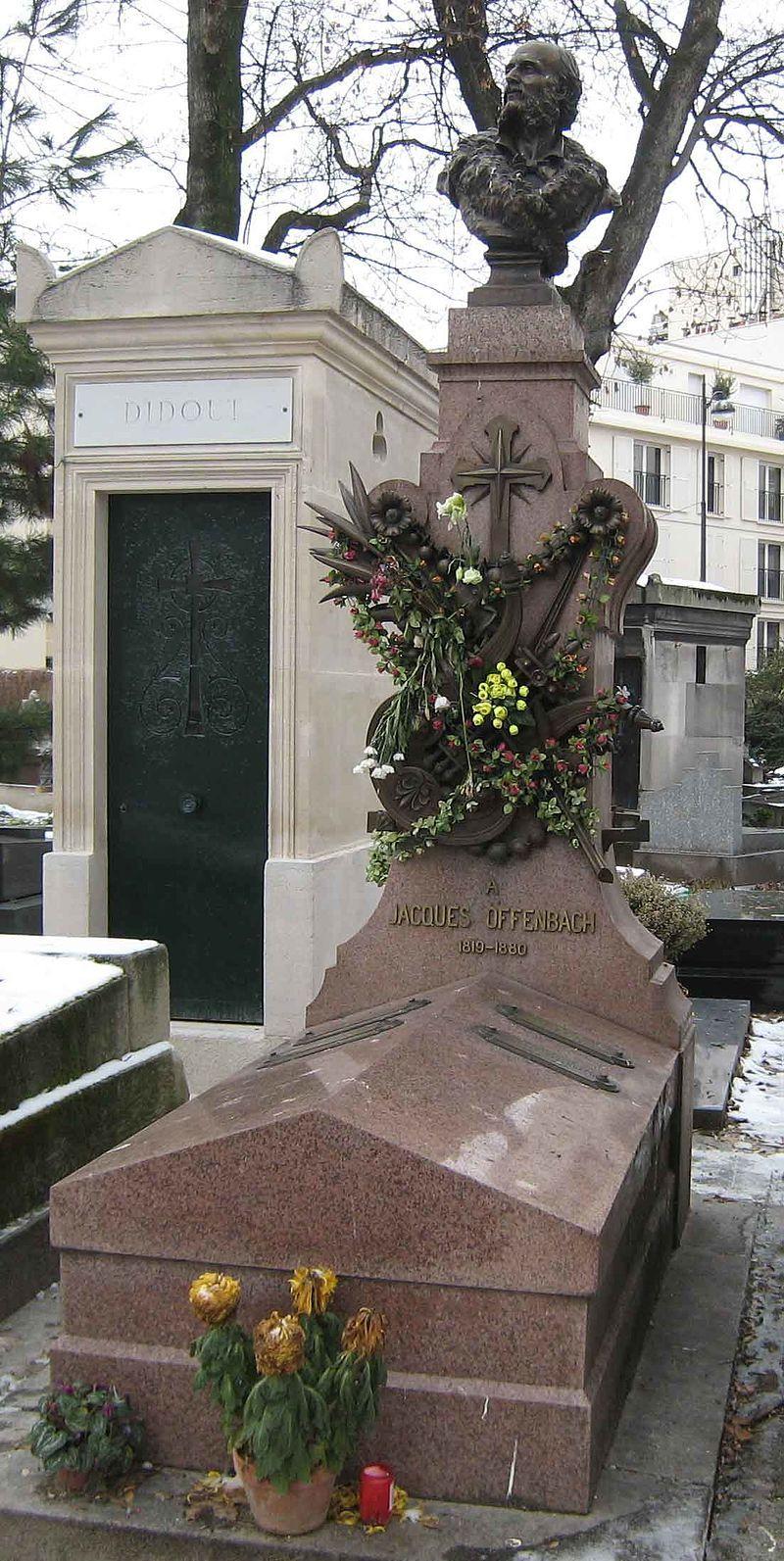 Tombe de Jacques Offenbach au Cimetière de Montmartre