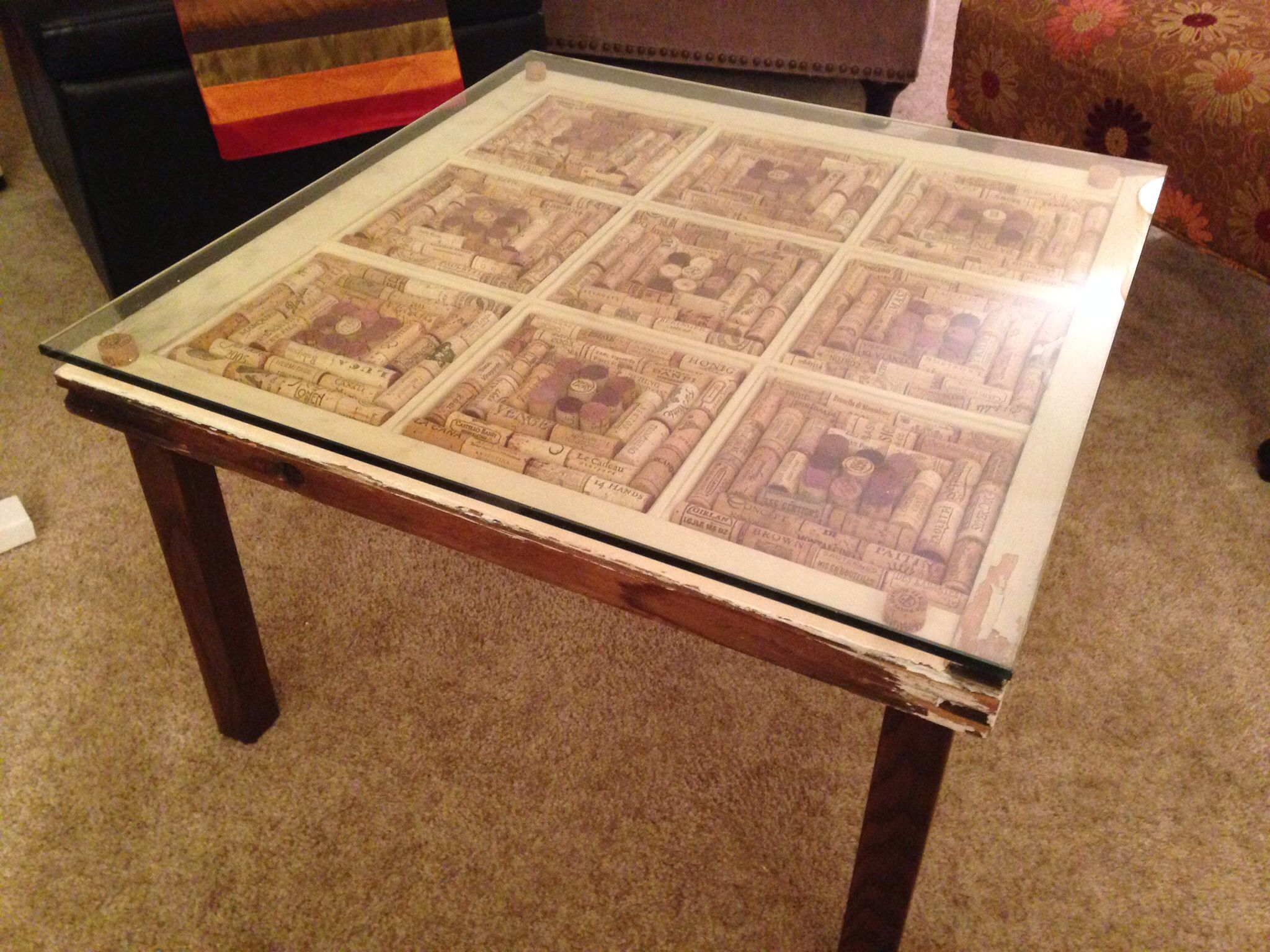 wine cork coffee table from window | crafty | pinterest | cork