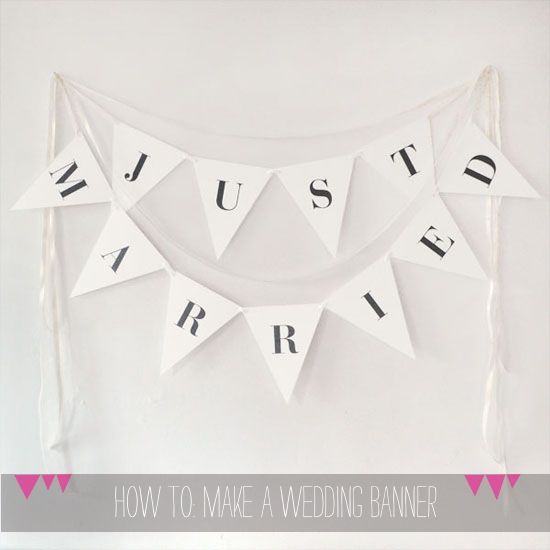 Downloadable Wedding Banner Printable