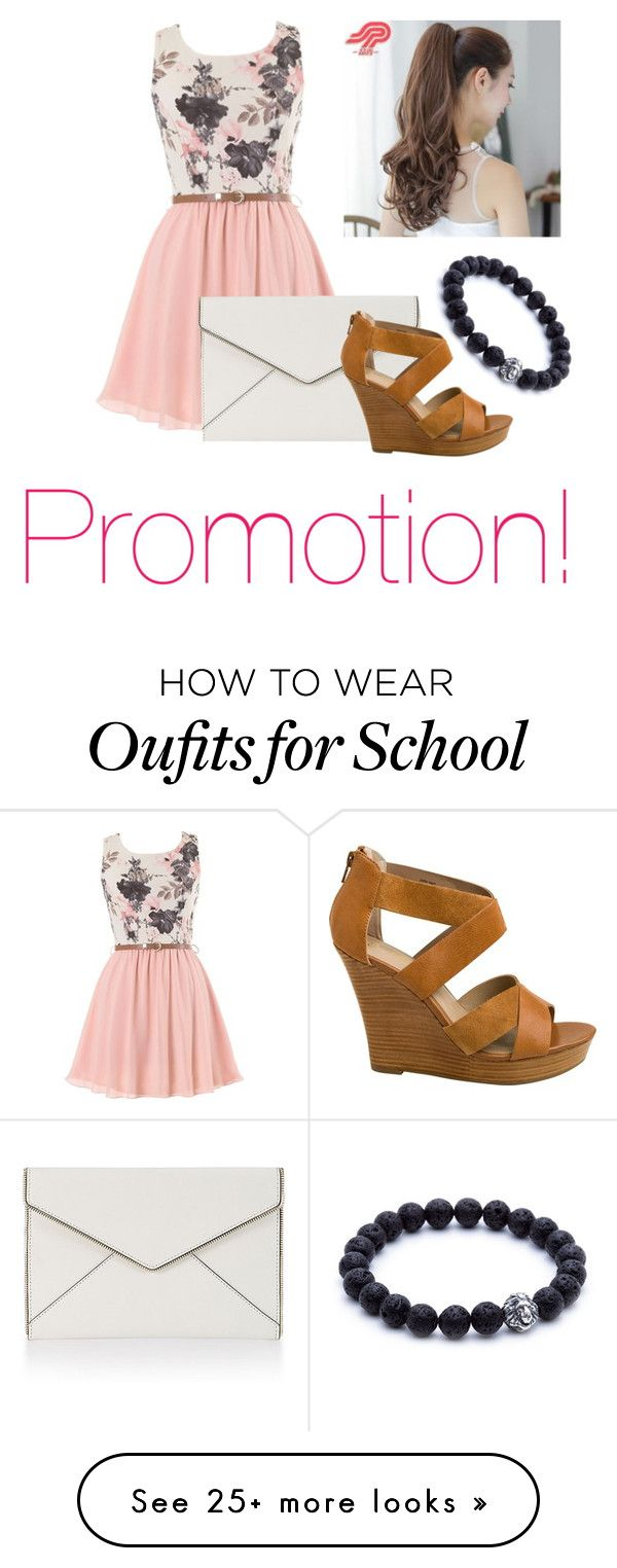 """""""School Promotion!!"""" by orchidflowrr on Polyvore featuring Rebecca Minkoff, Seychelles and Pin Show"""