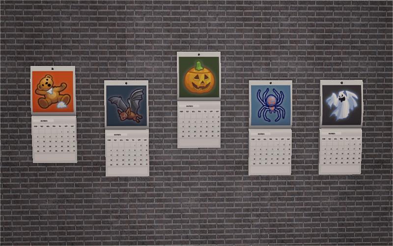 Halloween Calendar Halloween Calendar Halloween Sims 4 Mods