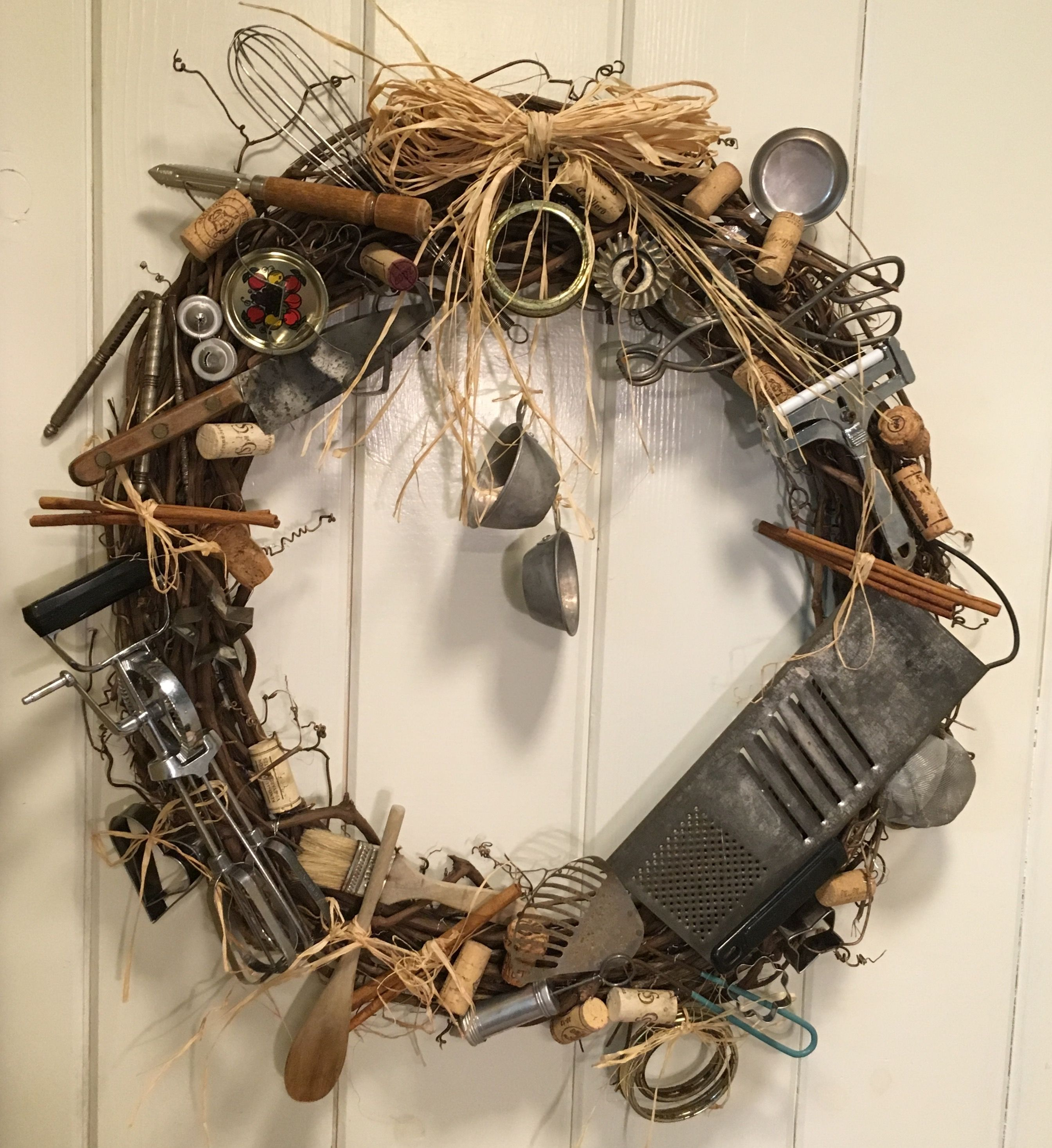 Kitchen Wreath - Made From Old Utensils