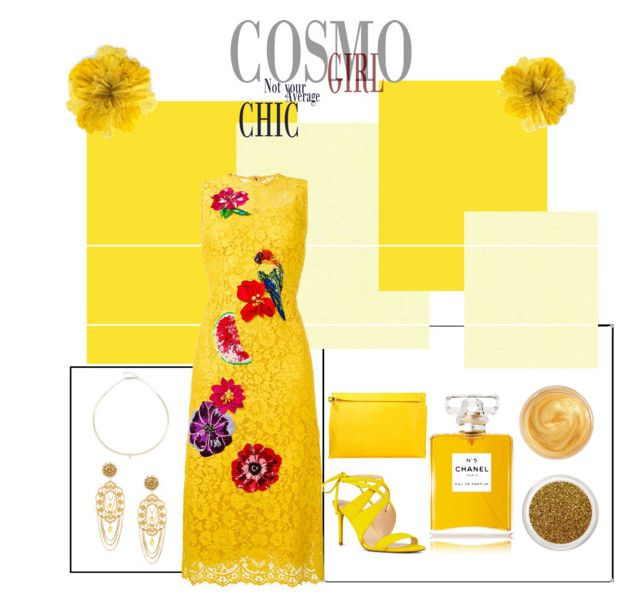 """Yellow -"" by junethesev7n ❤ liked on Polyvore featuring Dolce&Gabbana, Loewe, Nine West, ZoÃ« Chicco, Chanel, Oribe and Gucci"
