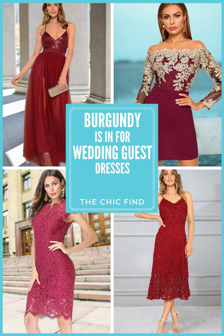 Burgundy Wedding Guest Dresses Burgundy Wedding Guest Dress Wedding Guest Dress Wedding Attire Guest [ 1102 x 735 Pixel ]