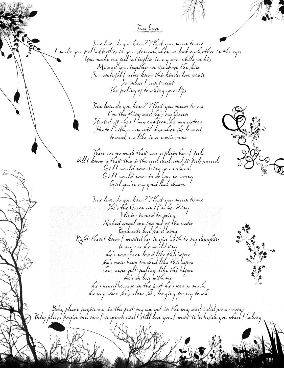 True Love True Love Poem