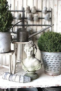 very cool zinc watering can
