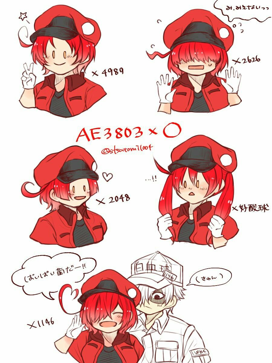 Cells at work white blood cell x red blood cell