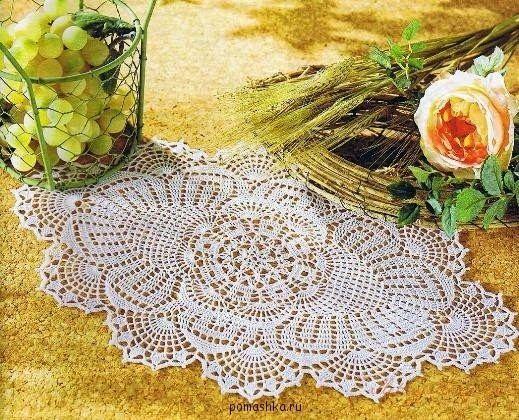 Viele ovale Deckchen - mit Anleitungen | Filet-Deckchen-Häkelei ...