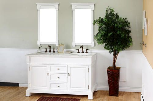 "60"" Double Vanity With White Marble Top White at Menards"