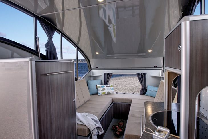 Alto 1713 - Fancypants teardrop trailer from Quebec. With SO MANY WINDOWS. This is the dream trailer.