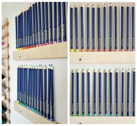 Handmade Wall Mounted Pencil Holder Pencil Holder Colored