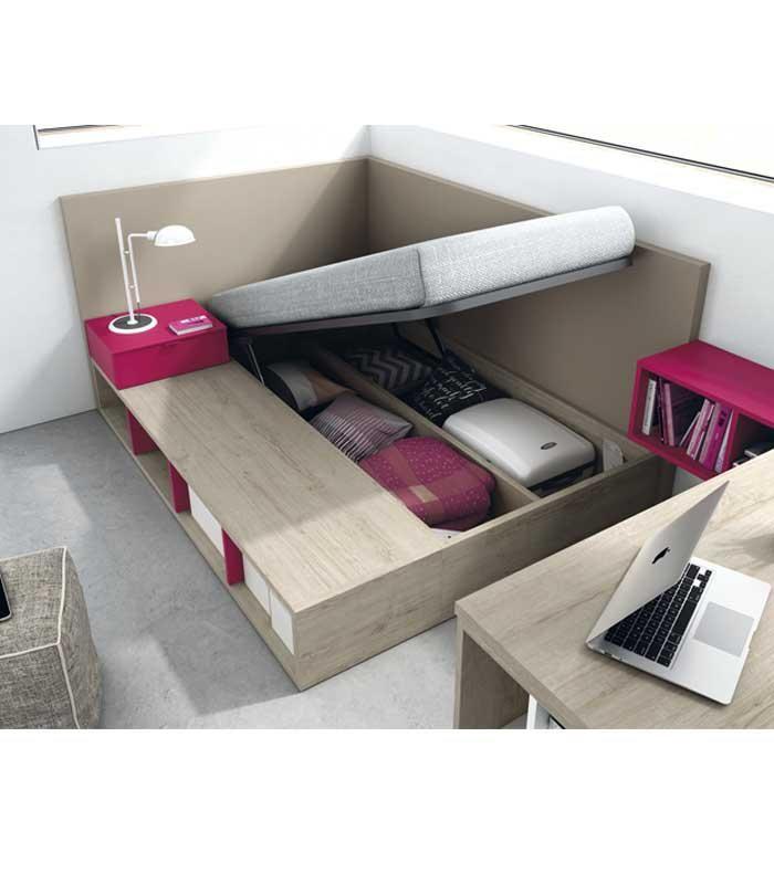 La cama ba era elevable nos ofrece espacio extra de for Baneras pequenas medidas