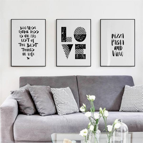 souq wall frames quotes home decor 60 x 40cm 3 pieces on wall frames id=82802