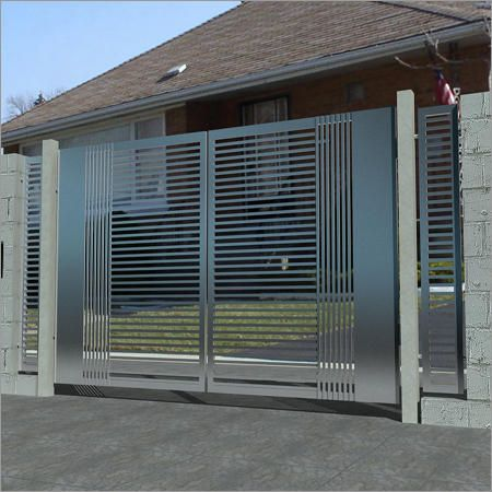Modern steel gate mild steel gate and home ideas for Modern house gate