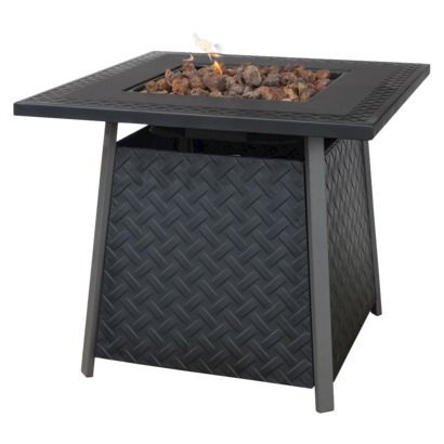 Uniflame Bronze Faux Wicker Lp Gas Fire Pit With Ceramic