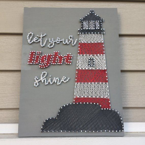 Let Your Light Shine Lighthouse String Art | Gift | Nautical Decor | Home Decor #lighthousegifts