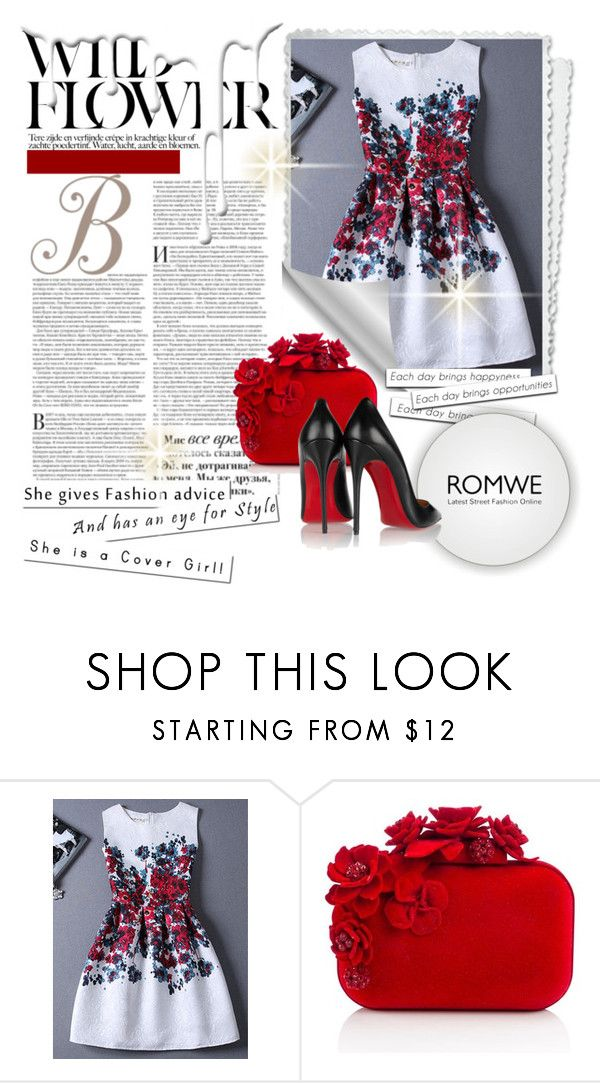 """""""Romwe contest"""" by causeiambass ❤ liked on Polyvore featuring Jimmy Choo, Christian Louboutin and Nivea"""