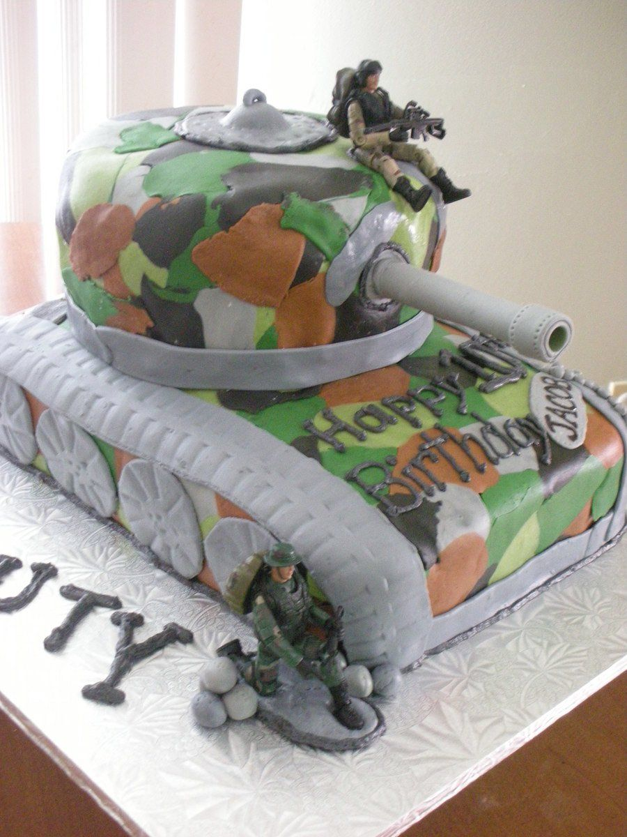 Incredible Call Of Duty Black Ops Tank Birthday Cake With Images Boys Birthday Cards Printable Riciscafe Filternl