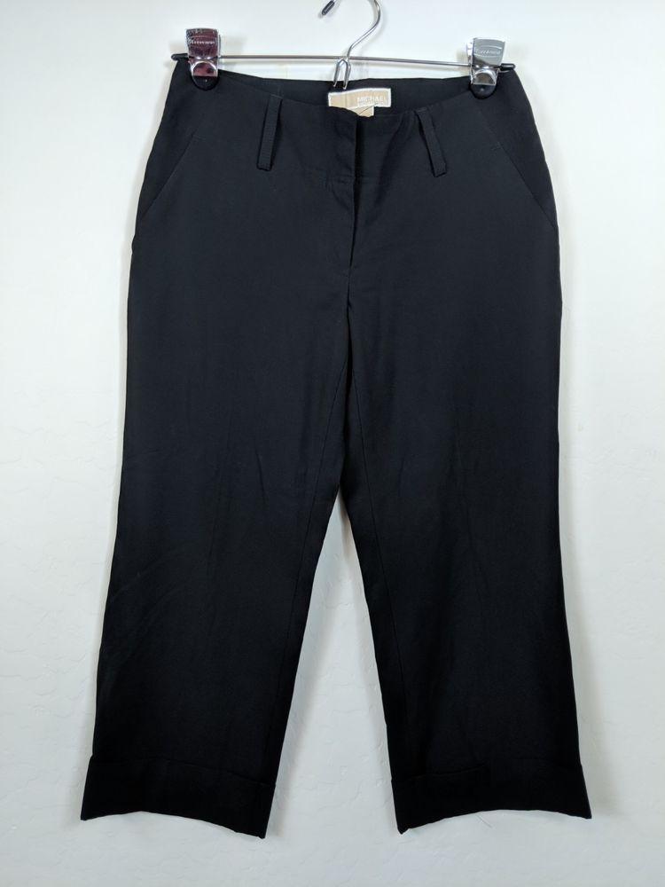 9c8ddc227b4 Michael Michael Kors sz 2 black crap Pants roll Hem casual Office Work  Designer #fashion #clothing #shoes #accessories #womensclothing #pants  (ebay link)
