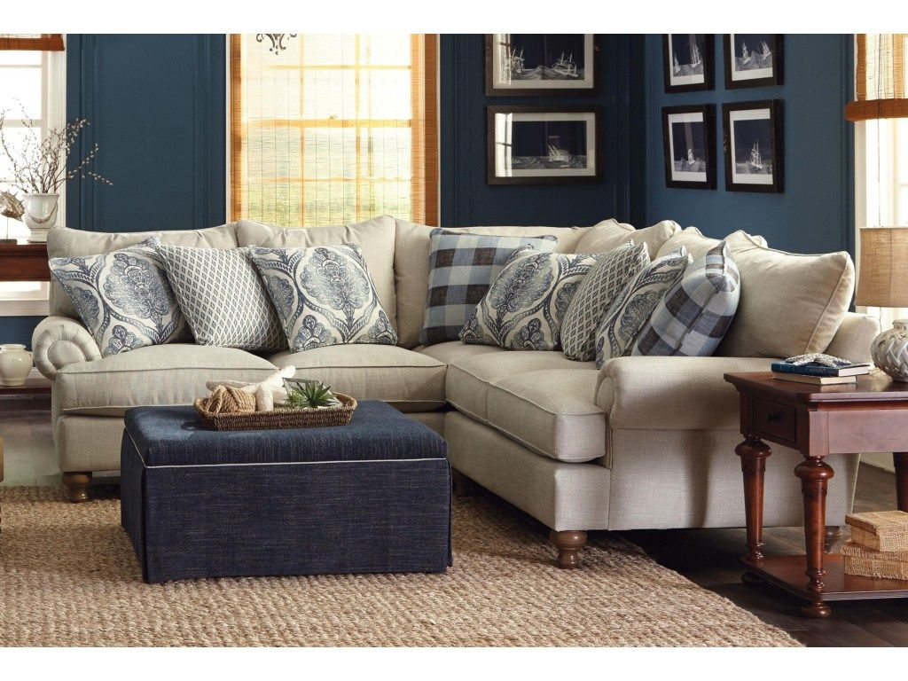 Paula Deen By Craftmaster P7117002 Piece Sectional Sofa Sectional Sofa Sofa Inspiration Sectional Sofa With Recliner