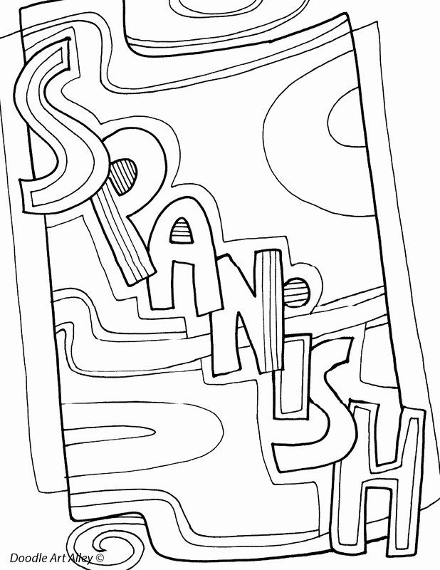 Coloring Book In Spanish New Subject Cover Pages Coloring Pages Classroom Doodles Bear Coloring Pages Coloring Pages Coloring Books