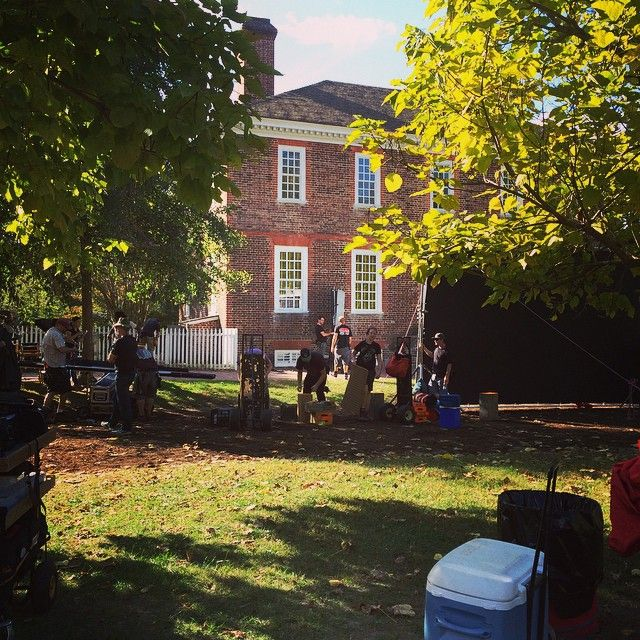 TURN filming at the Wythe House! Cool...