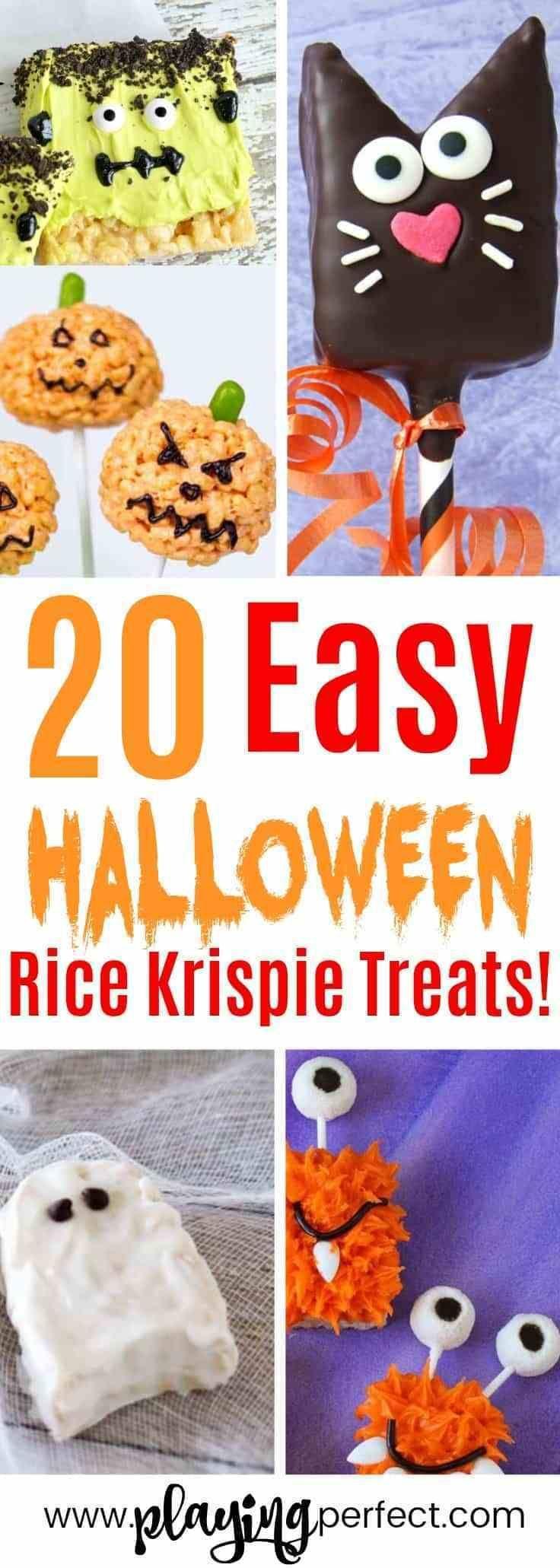 20 Of The Best Halloween Rice Krispie Treats #halloweenricekrispietreatsideas