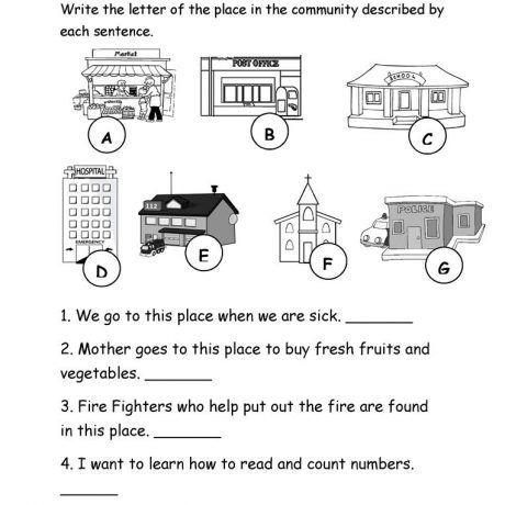 37 free esl community worksheets map for kindergarten places in our fun activities games grammar. Black Bedroom Furniture Sets. Home Design Ideas
