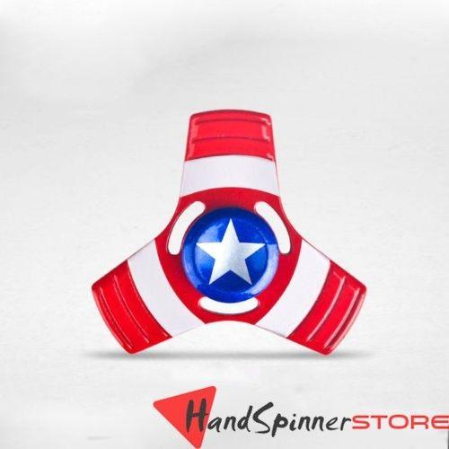 Toy Metal Captain-America Tri Spinner Fidget Toys