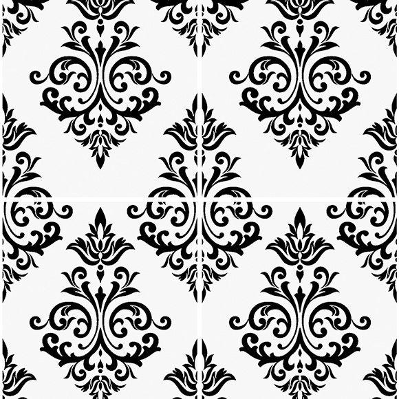 Papel pintado pallade blanco y negro ref 14002506 leroy - Papel pintado negro ...